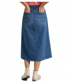 Lee BUTTON THROUGH LONG SKIRT L38T Mid Wick