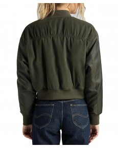 Lee SATEEN BOMBER JACKET L56E Olive Green