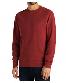 Lee BASIC TEXTURED CREW L85B Red Ochre