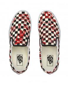 Vans CLASSIC SLIP-ON (Vans Crew) Checkerboard/Red