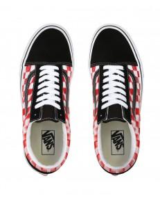 Vans OLD SKOOL (Blur Check) True White/Red