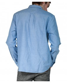Wrangler LS 1PKT BUTTON DOWN SHIRT W5A3B Cerulean Blue