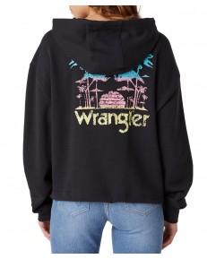 Wrangler DRAWCORD HOODIE W6Q7H Faded Black