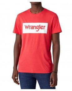 Wrangler SS LOGO TEE W742F Rococco Red