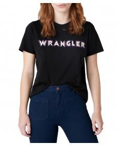 Wrangler HIGH RIB REGULAR TEE W7N9G Black