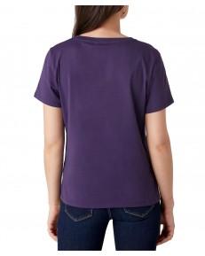 Wrangler LOGO TEE W7P3E Purple Velvet