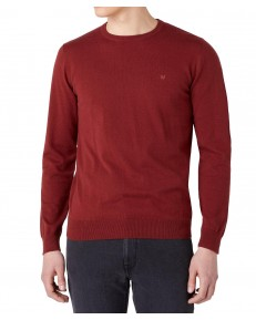 Wrangler CREWNECK KNIT W8A02 Rusty Brown