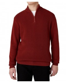 Wrangler HALF ZIP KNIT W8B4Q Russet Brown