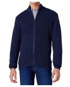 Wrangler FULL ZIP KNIT W8B5Q Navy