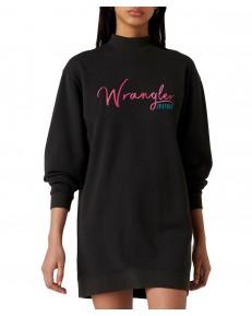 Wrangler HIGH NECK SWEAT DRESS W9P2 Black